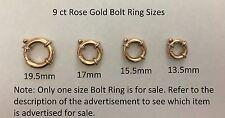 Genuine 9ct Rose Gold Bolt Ring Clasp Diameter 17mm AUSTRALIAN Made
