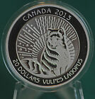 2013 Canada $20 Untamed Canada - Arctic Fox Coin 99.99% silver Proof finish