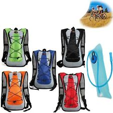 New Airflow Hydration Camel Backpack Bladder Bag Cycling Hiking Camping Pack 2L