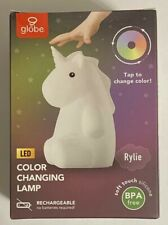 Globe LED Color Changing Tap Lamp Rylie Unicorn Rechargeable TikTok Silicone New