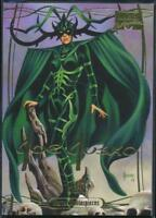 2016 Marvel Masterpieces Gold Signature Trading Card #7 Hela /1999