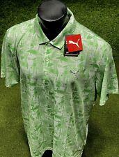 PUMA Chompers Limited Edition Polo Shirt Irish Green/White XXL (2XL) NWT #37411