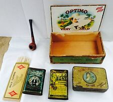 Vintage Tobacco Collection Lot La Palina Patterson Dills Pipe Italy Lot