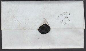 DEVON 1845 ENTIRE WITH VERY SCARCE TIVERTON SKELETON RECEIVER HANDSTAMP RARITY F