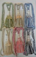 """Curtain & Chair Tie Back -30""""spread with 11""""tassel - 6 Colors to Choose From!"""