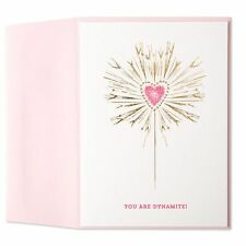 Papyrus Marcel Schurman You Are Dynamite Pink Heart Valentine's Blank Card