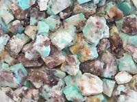 1/2 lb AMAZONITE Rough Rock Stones for Tumbling Tumbler from BRAZIL  FS