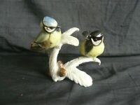 Hutschenreuther Porzellan Figur Meisenpaar 11,5cm Blaumeise Kohlmeise Deko Vögel
