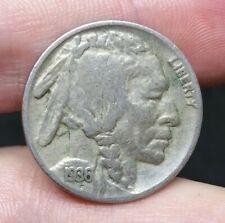 US Buffalo Nickel 5 Cent 1936 Good Coin