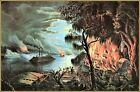 Currier & Ives |  The Mississippi in Time of War  Art Print