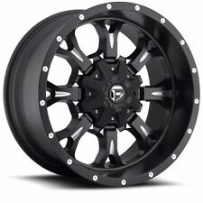 20x10 Fuel Off Road D517 Krank Black Wheels Rims Chevy Ford GMC Dodge Toyota