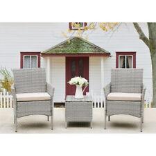 3pcs Outdoor Patio Sofa Set Pe Rattan Wicker Garden Sofa Set Furniture Cushions