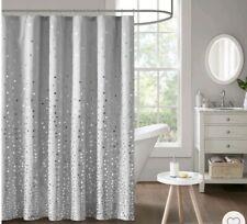 "Nova Printed Shower Curtain Gray/Silver 72""x72"" BRAND NEW!"