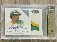 REGGIE JACKSON #2/5 2016 TOPPS DYNASTY AUTO PATCH BGS 9.5 AUTO RELIC OAKLAND A'S