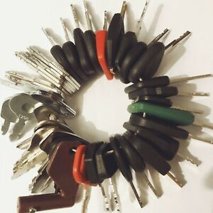 55pc Heavy Equipment Key Set Construction Ignition Keys CAT JCB Komatsu Volvo JD