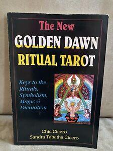 The New Golden Dawn Ritual Tarot; Cicero; 1st!