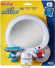 Nuby Spaceman Themed Bath Mirror Set with Squirter Toy