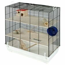 Small Pet Home Cage For Hamsters Gerbils Mice Includes Tunnel Exercise Wheel