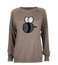 Bee And PuppyCat Cashmere Intersia Bee Sweater Size Small Women's Authentic New
