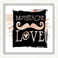 Watercolour Word Art Mustache Quote Drinks Mat Coaster