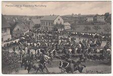 Ak Pferdemarkt in Eisenberg - Moritzburg um 1920 !