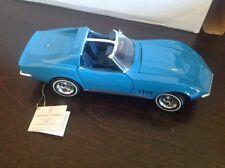 franklin mint 1968 Corvette,sky Blue, T-Tops Still Factory Wrapped,Nib