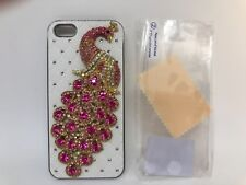 FOR IPHONE 5 CASE LUXURY BLING CRYSTAL DIAMOND 3D COVER -peacock