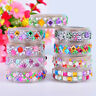 Jewelry Crystal Adhesive Washi Sticky Paper Tape Diary Decor Photo-New