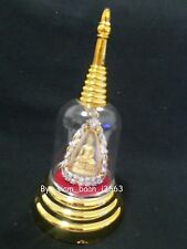 1 Storage Box Mini Buddha image  Pagoda Clear Acrylic Gorgeous&Dust Well # 002