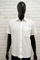 Camicia MARINELLA Uomo Taglia Size M Maglia Shirt Man Cotone Regular Fit Bianco