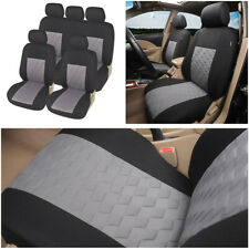 9pcs Universal Car Seat Covers Front Rear Headrests Set for 4 Seasons Polyester