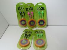New Lot of 5 GE Audible Edge in case Headphones 3.5 mm Plug Mixed Colors NEW