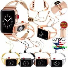 Stainless Steel Wrist Band Bangle Cuff Bracelet Strap for Apple Watch Series 4-1