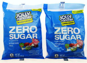 Jolly Rancher ~ ZERO SUGAR ~ Hard Candy ~ 3.6 oz Bags America ~ Lot of 2 sweets
