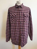 EE719 MENS POP BLUE RED WHITE CHECK SLIM FIT COTTON L/SLEEVE SHIRT UK XL EU 54