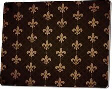 "FLEUR DE LIS Tempered Glass Cutting Board, 9.75"" x 7.75"" by P. Graham Dunn"