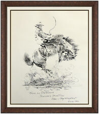 Olaf Wieghorst Original Western Drawing Signed Horse Cowboy Illustration Artwork