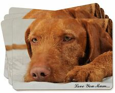 Hungarian Vizsla 'Love You Mum' Picture Placemats in Gift Box, AD-V3lymP