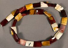 "FLASHY MOUKAITE JASPER 14x10MM FACETED RECTANGLE BEADS 16"" STR MOOKITE MOOKAITE"
