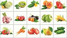 Veg Pepper Kiwi Apple Carrot Wall Decal Sticker Kitchen Exhaust Grease Oil Proof