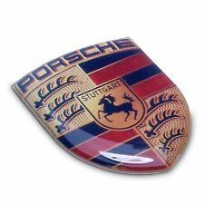 Genuine OEM Porsche SML 3D Crest Sticker Decal 911 Boxster Cayman Cayenne Macan