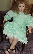COLLECTIBLE ONE OF A KIND PORCELAIN DOLL 30 INCH RUBERT 1992 MOLDS MUST SEE