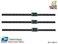 3Pcs Kossel Black 450mm 3D Printer MGN12 Linear Slide Guide + MGN12H Block Delta