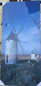 """Windmill 20"""" x 48"""" Canvas print On A Wooden Stretcher Frame"""