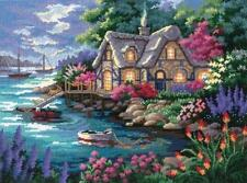 """Sunset / Dimensions COTTAGE COVE 12155 NEEDLEPOINT KIT 16"""" X 12"""""""