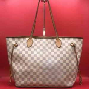 Louis Vuitton Damier Azul Neverfull MM Tote Bag Pink Auth MM3390