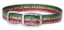 Dublin Dog Collar. Waterproof, No Stink.  KOA Rainbow Trout.  Large. NWOT