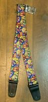 "Buckle-Down Guitar Strap Sugar Skull Multicolor  2"" Wide 29-54"" Long TF"