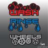 Bespoke Car Detailing Valeting Wash, Rinse, Wheels Vinyl Decal Bucket Stickers
