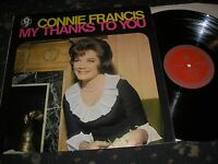 CONNIE FRANCIS MY THANKS TO YOU UK WORLD SOUND TP 618 MONO LP NEAR MINT